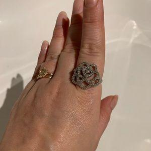Swarovski Hortense ring silver size 9